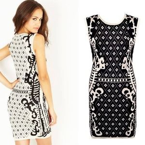 NASTY GAL Sexy Printed Thick Knit Bodycon Dress